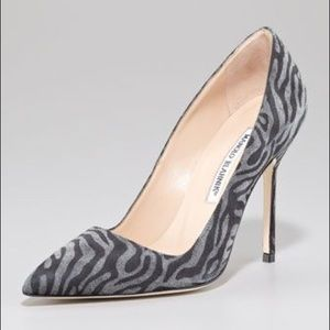Manolo Blahnik BB pumps - suede 105 mm